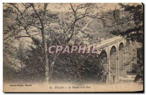 Old Postcard Dinan Viaduct and the Port