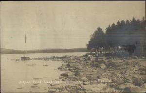 Lincoln ME Jordan Point Mattanawcook 1925 Real Photo Postcard