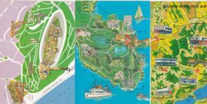 Tihanyi Felsziget Gellert Hegy Afesz Hungary Map Megye 3x Map Postcard s