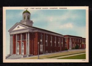 Tennessee colour PC First Baptist Church, Kingsport, unused