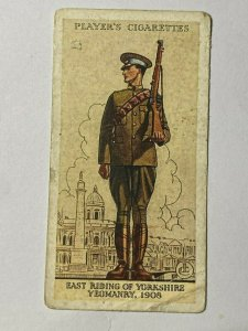 CIGARETTE CARD - PLAYERS ARMY UNIFORMS #18 EAST RIDING YORKSHIRE YEOMANRY(UU315)