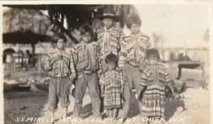 RP: SEMINOLE Indians , Florida , 30-40s; #5