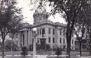 North Dakota Wahpeton Court House Real Photo