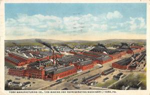 York Pennsylvania Manufacturing Co Birdseye View Antique Postcard K26990