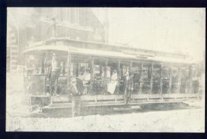Attleboro, Massachusetts/Mass/MA Postcard, Trolley Car, Reprint
