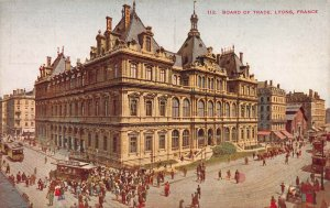 Board of Trade Building, Lyons, France, early postcard, unused