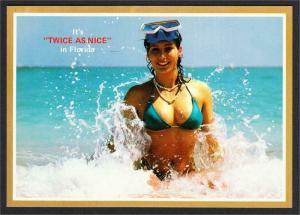 dc6883496 Florida Bathing Beauty Pinup Postcard  10 It s Twice as Nice 1980s