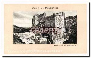 Old Postcard From Palestine Views Walls Of Jerusalem