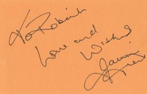 Jackie Trent Hand Signed Autograph Page Card