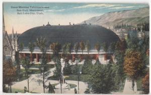 Great Mormon Tabernacle and Sea-Gull Monument, Salt Lake City, Utah, Postcard