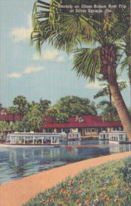 Florida Silver Springs Glass Bottom Boat Starting The Trip Curteich