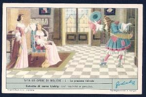 LIEBIG CARDS Advertising Life & Operas Moliere Scenes Set/6