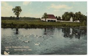 Wilmington, Delaware, Early View of Lake Shellpot Park