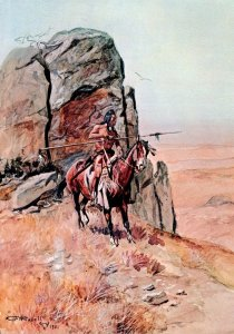 Painting The Outpost By Charles Marion Russell