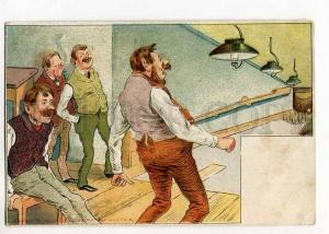 264793 COMIC Sport BOWLING Vintage REGINA #178-e postcard