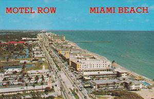 Aerial View, Motel Row, Beach Shore, Pier, Classic Cars, Swimming Pools, MIAM...
