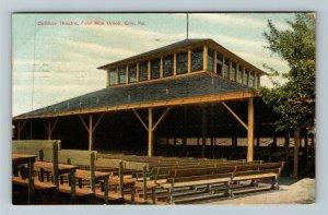 Erie PA-Pennsylvania, Outdoor Theatre, Four Mile Creek, Vintage c1909 Postcard
