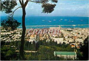 Postcard Modern Haifa one of the biggest towns in the country