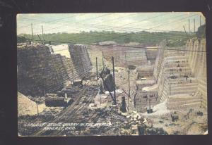 AMHERST OHIO WORLD'S LARGEST STONE QUARRY MINING ANTIQUE VINTAGE POSTCARD