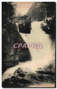 Old Postcard The High Pyrenees Cauterets Cascade From Cerisey