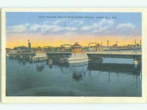 Linen BRIDGE SCENE Green Bay Wisconsin WI HJ1154