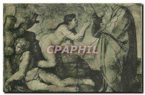 Old Postcard Citta del Vaticano Cappelle Sistina Michelangelo The Creation of...