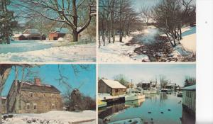 Multi-View, Winter Scenes, Jackrabbit Service, EAST NORWICH, New York, 40-60's