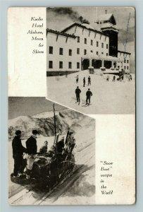 Caribbean, Kanko Hotel, Mecca for Skiers, Chrome c1947Postcard