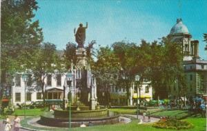 Canada Faith Monument At The Place d'Armes Quebec
