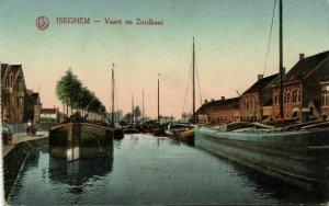 belgium, IZEGEM ISEGHEM, Vaart en Zuidkaai (1910s) Postcard