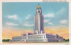 Nebraska Lincoln State Capitol Building 1933 Curteich