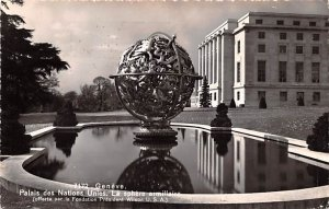 Geneve Palais des Nations Unies La Sphere Armillaire Switzerland 1950