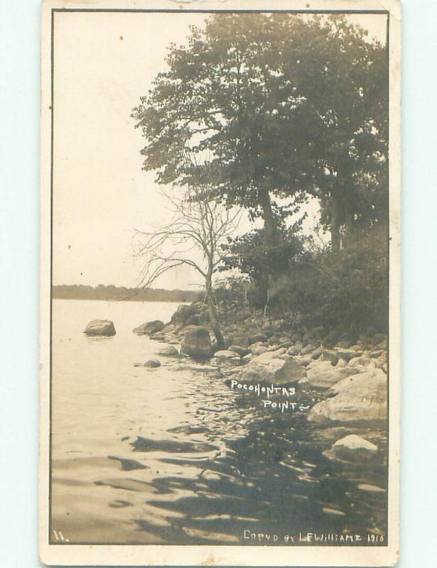 Pre-1918 rppc NICE VIEW Near Port Renfrew On Vancover Island BC W1099