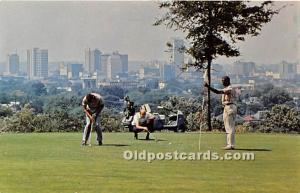 Old Vintage Golf Postcard Post Card Highland Club Course Birmingham, Alabama,...