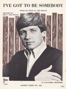 I've Got To Be Somebody Joe South 1960s Sheet Music