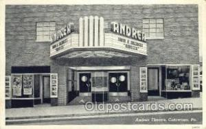 Andrea Theatre Catawissa, PA, USA Postcard Post Cards Old Vintage Antique Cat...