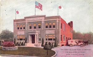 New Haven CT The Home of Semons Ice Cream Plant Delivery Trucks Postcard