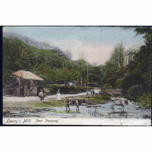 Frith's Series Postcard 'Lawry's Mill, near Newquay'