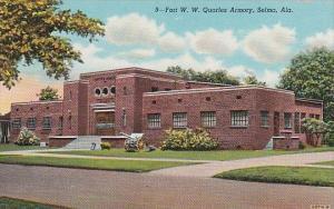 Alabama Selma Fort W W Quarles Armory Curteich