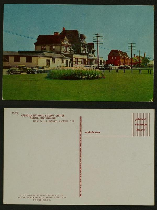 Canadian national railway staion Moncton NB c 1950s
