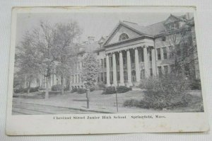 Vintage Postcard Chestnut St School Springfield MA