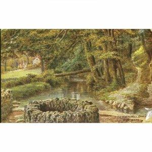 Salmon Ltd. Artist Signed A.R. Quinton Postcard 'The Wishing Well, Upwey, Nr. We