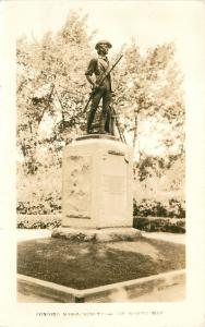 Concord Massachusetts~The Minute Man Revolutionary War Statue~1940 RPPC