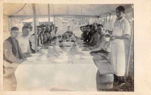 Chester Pennsylvania Camping Dinner Table Real Photo Antique Postcard J75963