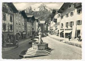 RP  Berchtesgaden, Marktplatz mit Watzmann, Germany, PU-1959