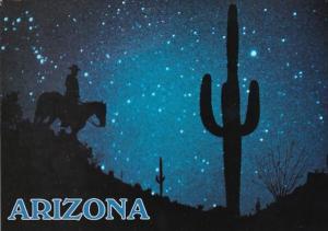 Colorado Night Rider With Sentinel Of Sahuaros