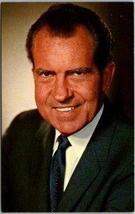 Vintage President RICHARD NIXON Political Postcard c1970s Unused