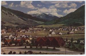 Jackson, Wyoming, View of Jackson Hole Lodge and Cottages, 1954
