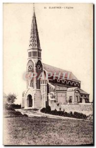 Old Postcard Clastres L & # 39Eglise
