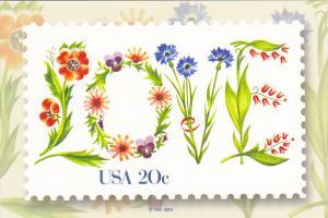 United States 20 cent Love Stamp 1981